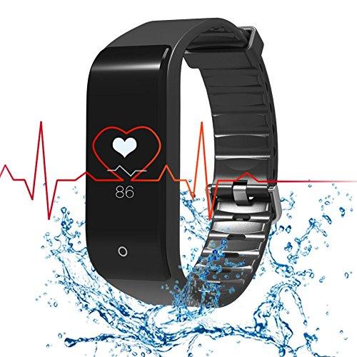 RIVERSONG Pulsera Deportiva Reloj Inteligente Fitness Tracker Monitor de Frecuencia Cardíaca Pulsera Deportiva Pulsera de Actividad Reloj Sedentario Reloj Deportivo Hombre o Mujer Control de Sueño