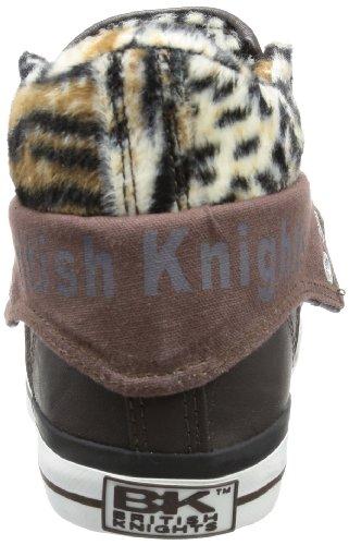 British Knights ROCO B32-3731, Sneaker donna Marrone (Braun (dk. brown/leopard 3))
