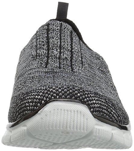 Skechers Damen Empire-inside Sneakers Bksl Nero / Argento