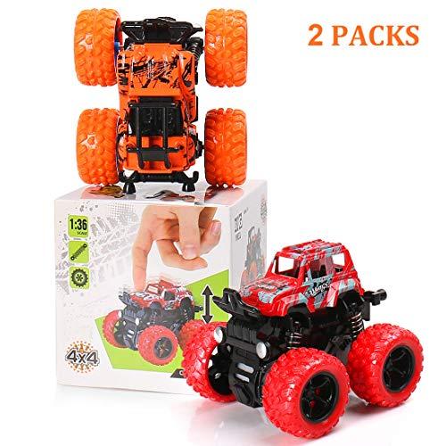 BBLIKE Coches de Juguetes, Juguete Coche 2 Piezas Vehículos Push and Go Tractor, Camión , Ideal Cumpleaños niños,Juguetes Educativos para Niños 1 2 3 4 Años