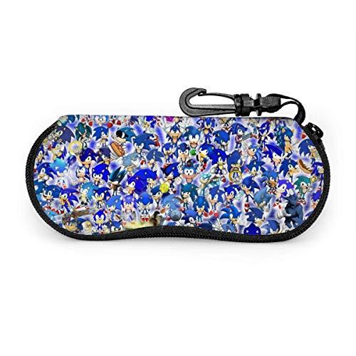 Brillenetui, Sonic Advance Travelable Zipper Sonnenbrillenetuis Lesebrillen Taschenschutzset