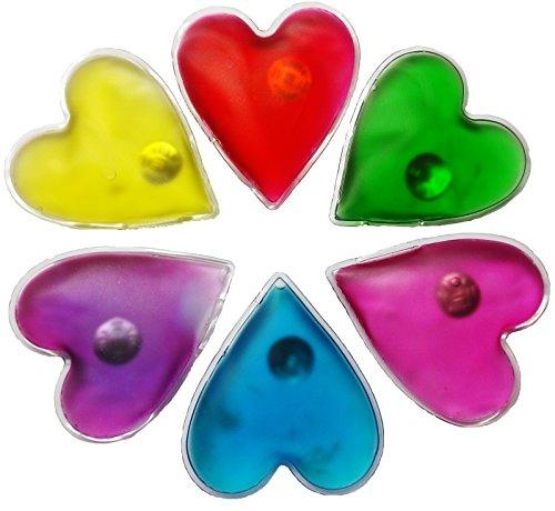 Handwärmer in Herzform, 6 Taschenwärmer für Warme Hände im Winter, Taschenkissen, Wiederverwendbare Wärmekissen, Herz