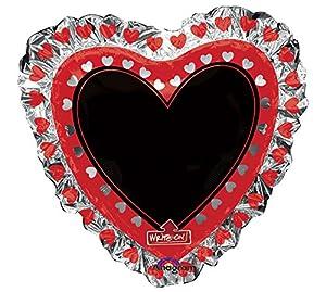 amscan 3250801 - Globo de Papel de Aluminio con Forma de corazón, 71,1 x 71,1 cm (Talla XL)