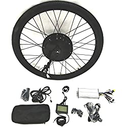 48V1500W Hub Motor lektro-Fahrrad Umbausatz Electric Bike Conversion Kit + LCD+ Tire Theebikemotor