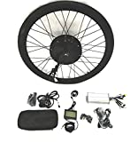 theebikemotor 48V1500W Hub Motor Ebike Kit Conversione Bici Elettrica + LCD+ Tire (Rear Wheel + Shimano Disc Brake, 26')