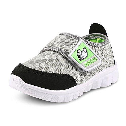 Putu Baby Sneaker Klettverschluss Sommer Outdoor Sandalen Atmungsaktiv Leicht Mesh Lauflernschuhe Jungen Mädchen Grau 19