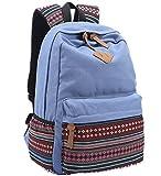 Padgene Unisex Leinwand Schulrucksack Rucksack Schulranzen für Teenager mit Tracht Muster für Mädchen Junge
