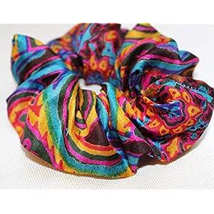 Haargummi Seide Kollektion Pop-Art NEON türkis lila orange Seidenhaargummi scrunchie Haar-Accessoire Frauen Mädchen Upcycling Stoff designer scrunchie - einzigartiges & maß