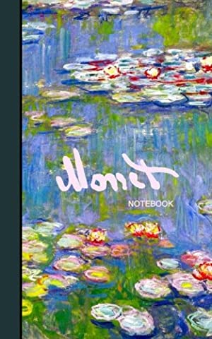 Monet Notebook: Water Lilies and Japanese Bridge ( journal / cuaderno / portable / gift ) (Signature