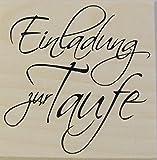Stempel Einladung zum freudigen Erreignis, Taufe, Embossing, Stempeltechnik,