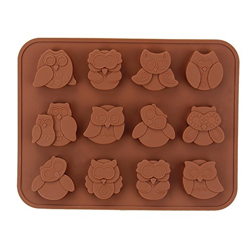 Stampo in silicone per cioccolatini (con gufi)
