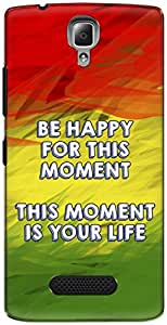The Racoon Lean printed designer hard back mobile phone case cover for Lenovo A2010. (rasta word)