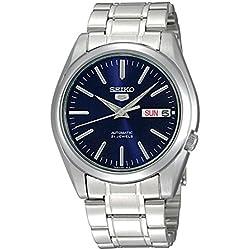 Seiko 5snkl43K1-Ladies Watch-Analogue-Automatic-blue dial-Bracelet Steel Grey