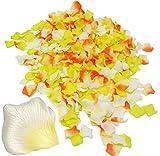 Unbekannt 500 TLG. Set - Streublumen / Streudeko -  XL Blütenblätter - orange / changierend  - aus Stoff - Kunstseide - 6,5 cm - Rosenblüten / Blumen - Braut - zur Ho..