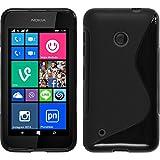 PhoneNatic Case kompatibel mit Nokia Lumia 530 - schwarz Silikon Hülle S-Style Cover