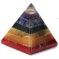 Divine Chakra Pyramid-Stein, 7 Chakra-Steine, roter Jaspis, Aventurin, goldener Quarz, Amethyst, 30-40 mm, Größe... preisvergleich bei billige-tabletten.eu