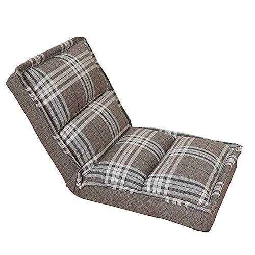 Faules Sofa Waschbarer Boden-Stuhl, Einzelne Faul Couch 5-Fach Verstellbares Home Office Meditation...