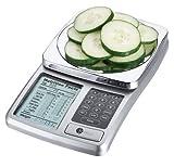 Kitrics Digitale Nährwert-Küchenwaage – Errechnet den Nährwert (Kalorien/Kohlenhydrate) Ihrer Nahrungsmittel für eine gesunde Ernährung
