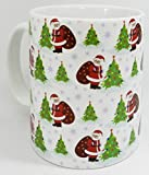 Father Christmas in the Forest Mug by Half a Donkey
