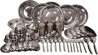 Royal Sapphire Stainless Steel Dinner Set 54 pcs Heavy Gauge