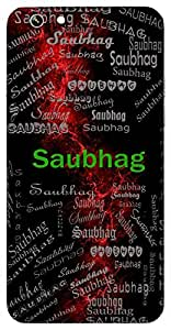 Saubhag (Full Of Fortunes Auspicious) Name & Sign Printed All over customize & Personalized!! Protective back cover for your Smart Phone : Asus Zenfone 3 Max(ZC-520TL)