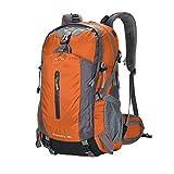 YAAGLE Wasserdicht Bergsteigen Taschen 50 L outdoor Rucksack Gepäck vielfältig Farben Trekkingrucksack Reisetasche-orange
