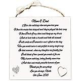 MissyJulia Ltd Hochzeit Thank You Geschenk | Personalisierte Eltern der Bräutigam Braut Plaque | Nach der Hochzeit, Holz-Karte w324
