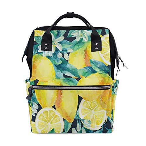 Frisches Obst Gelbe Zitrone Limes Große Kapazität Windel Taschen Mummy Rucksack Multi Funktionen Wickeltasche Tasche Handtasche Für Kinder Babypflege Reise Täglichen Frauen - Zitrusfrüchte Bäume