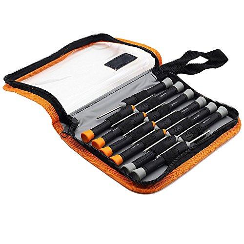 zisions-Torx-Schraubendreher, T6, T7, T8, T9, T10, Philip mit magnetischer Schraubendreher-Set für Handy/Mac Computer-Reparatur, Chrom-Vanadium-Stahl ()