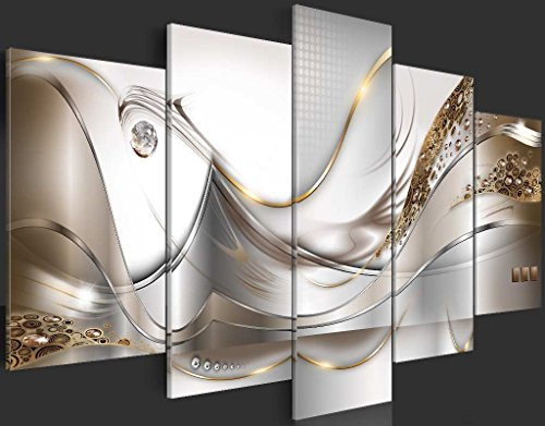 murando - Acrylglasbild Abstrakt 200x100 cm - 5 Teilig - Glasbilder - Wandbilder XXL - Wandbild - Bilder a-A-0004-k-o - 5