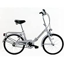 "Frejus MICROBIKE GRAZIELLA 20"" - Bicicleta de plegable para unisex, 1 velocidades, cuadro acero, Blanco"