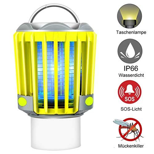 RUNACC Campinglampe LED Laterne Outoor wasserdicht IP66 mit 2200mAh Akku, Mosquito Killer Taschelampe