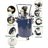 8gal 30L pnumatic Druck Feed Paint Mixer Topf Tank Spritze Regulator Air Tinte Mixer Paint Rührwerk für hochviskose Tinte Dye Chemikalien mischen Maschine Mixer disperser