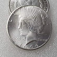 YunBest 1964 Morgan Silver Dollars-US Old Coin Collecting – Moneda Estadounidense – USA Old