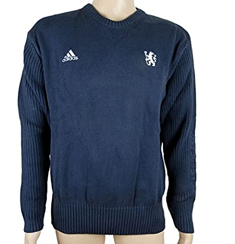 Adidas CFC Chelsea FC St Pull tricot Pull Bleu Neuf Taille L
