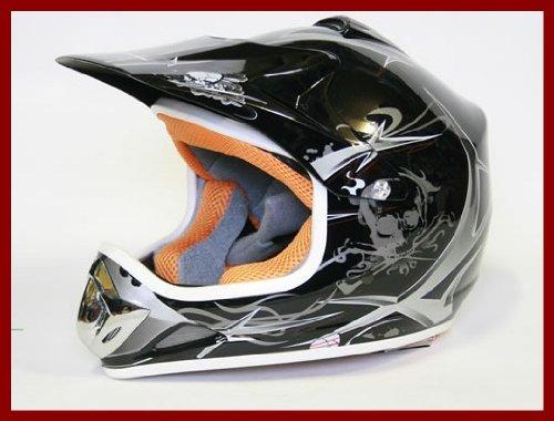 Helm Kinderhelm Motorradhelm Crosshelm Motocrosshelm Sport Schwarz XL