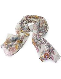 Lady Bohemian Vintage Flowers Totem Pashmina Tassel Scarf Shawl Silk Neck Wrap