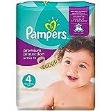 Pampers - Active Fit Couches Taille 4 (8-16 kg/Maxi) - Pack Economique 1 Mois de Consommation x 168 couches