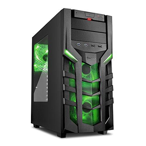 Acryl-gehäuse Große (Sharkoon DG7000 PC-Gehäuse mit Window Kit (2x USB 3.0, 2x USB 2.0, 3x 140 mm LED-Lüfter) grün)