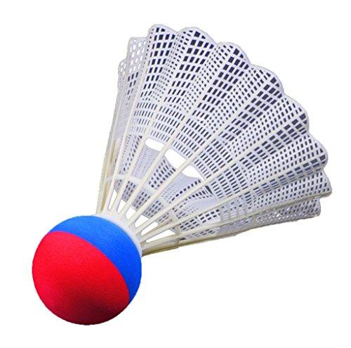FLIXI Riesen Federball - wetterfester Badminton Ball für Outdoor Ball Spiele - Schaumstoffball - in Rot und Blau