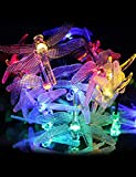 LED Outdoor String Lights CiberSpeed Dragonfly Fairy Lights 20 LEDs 4.8m/15.7ft Multi-Coloured Solar LED Garden Lights for the Decoration of Lawn Tree Patio Flower and so on