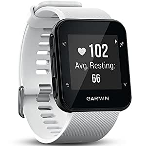 Garmin 010-01689-03 Forerunner 35 GPS Running Watch with Wrist-Based Heart Rate and Workouts - White