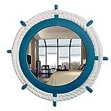 LEI ZE JUN UK Mirror- Europäisches Modernes einfaches Badezimmer Ruder-Spiegel-Wand-hängende Verkleidung Eingangsspiegel-Toilette Schönheits-Dekoration Wasserdichter Wäsche-Verfassungs-Spiegel Wandspi