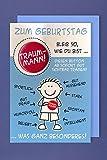 Grußkarte Geburtstag Karte Humor Applikation Button TRAUM-MANN C6