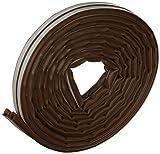 Brinox B82550M - Burlete silicona puertas y ventanas, color marrón