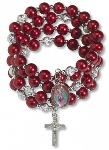 our-lady-of-guadalupe-charm-rosebud-rot-bead-7-1-51-cm-verstellbar-wrap-rosenkranz-armband
