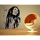 Bob Marley Reggae Rasta de Jamaica limpiacristales gratis. GRANDE vinilo adhesivo/Art, negro, Medium - (w) 45cm x (h) 60cm