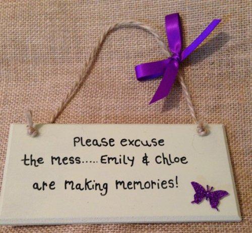 fatto-a-mano-in-legno-con-scritta-gift-please-excuse-the-mess-emily-e-chloe-sono-mak