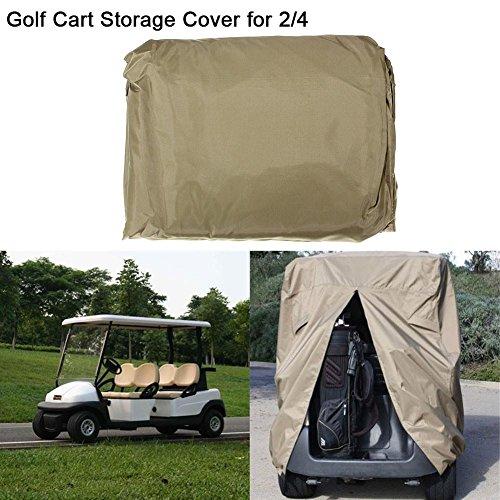 Golfwagen Abdeckung Golf Cover mit Hinterer Reißverschluss für Alle Standard 4 Personen EZ GO, Club Car und YAMAHA