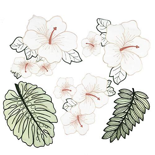 (Fansi 1 Set Fashion Applikation Kleidung Dekoration Kreative Blätter Blumen Muster Bestickt Handarbeit Baby Kinder Mädchen Frauen Tücher DIY Kostüm Zubehör)
